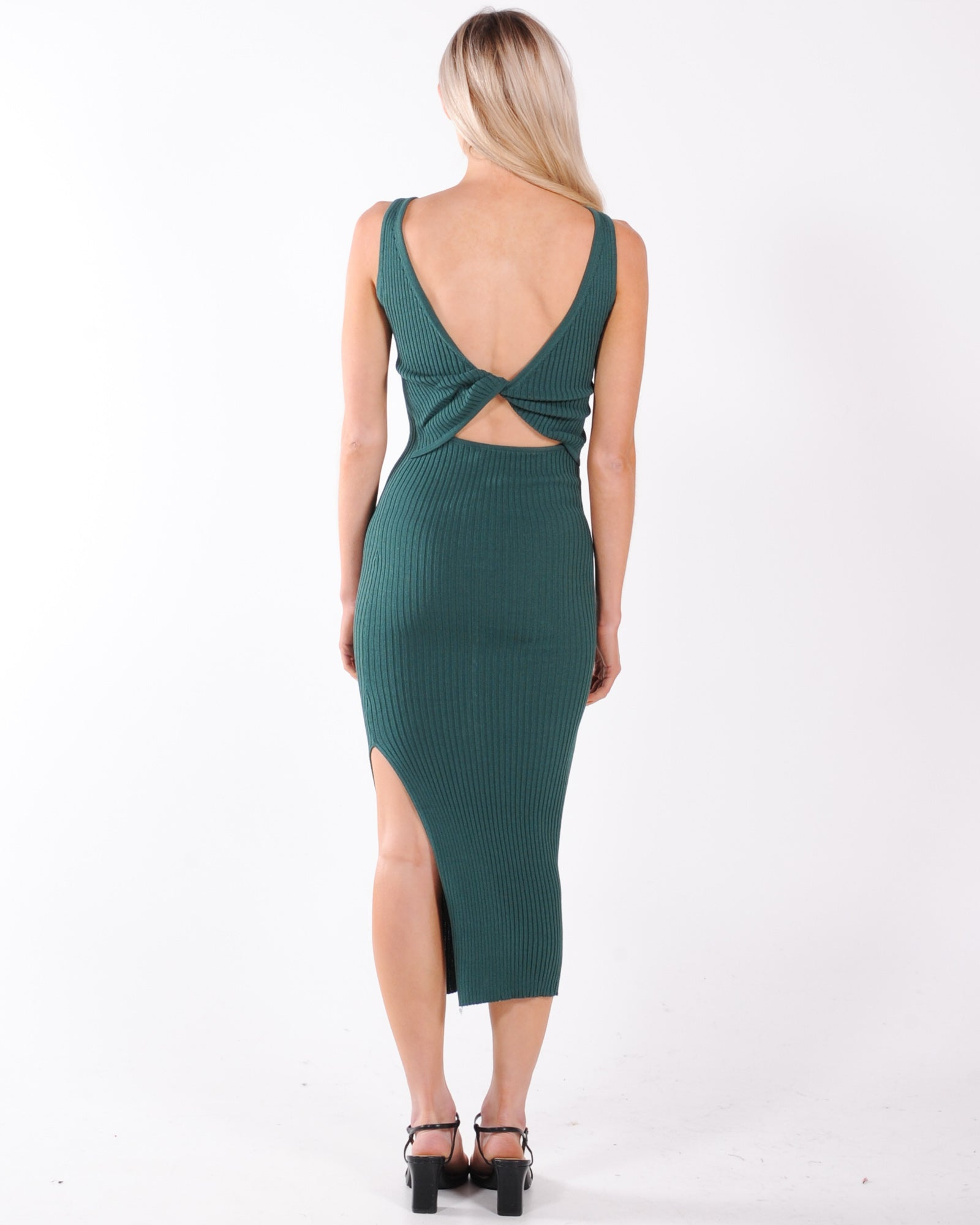Remi Knit Midi Dress - Green