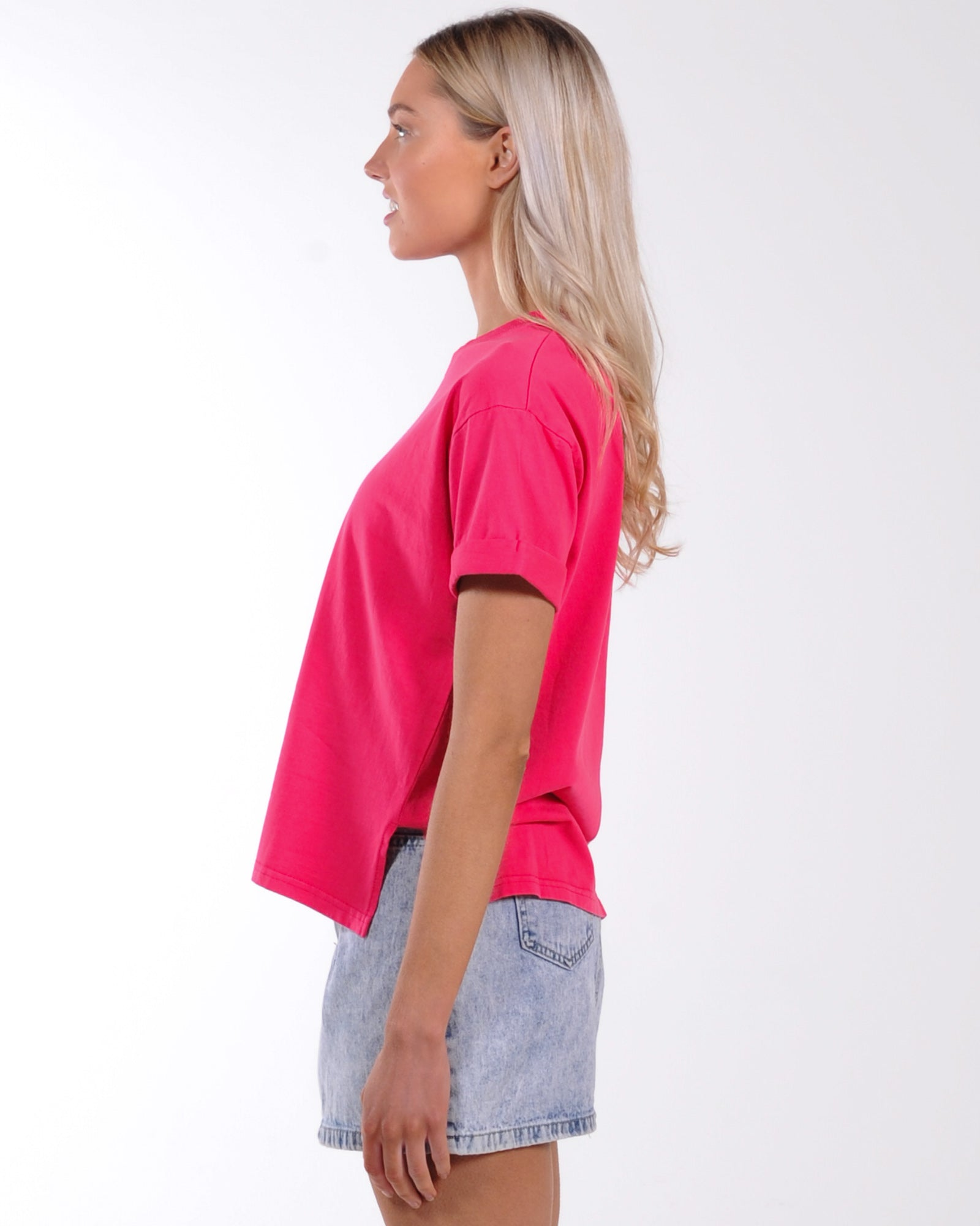 All About Eve Washed Tee - Rose