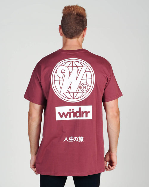 Wndrr Capital Custom Fit Tee - Burgundy