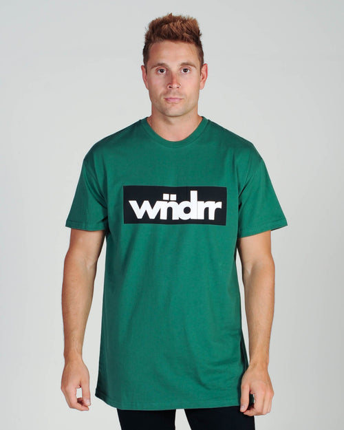 Wndrr Accent Custom Fit Tee - Forest Green