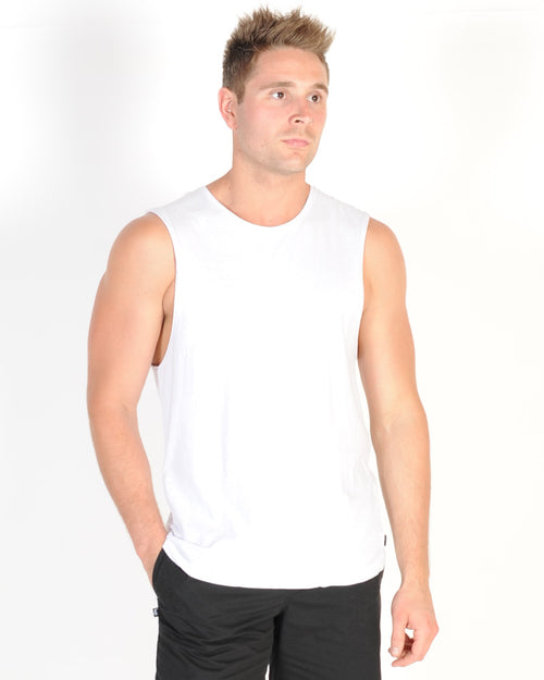 Silent Theory Standard Muscle Top - White