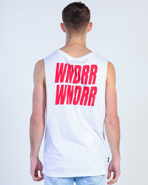 Wndrr Vandals Muscle Top - White