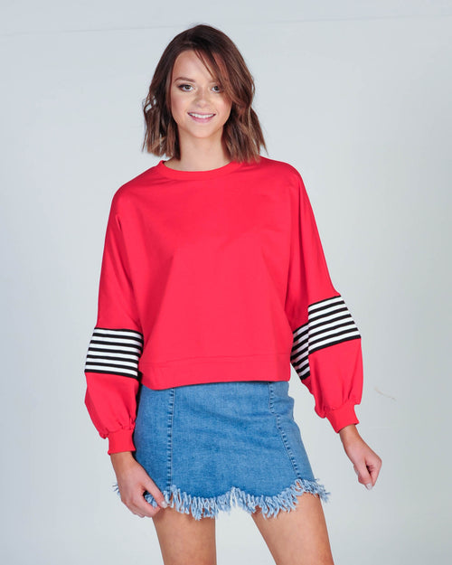 Part Of A Crew Sweat - Red