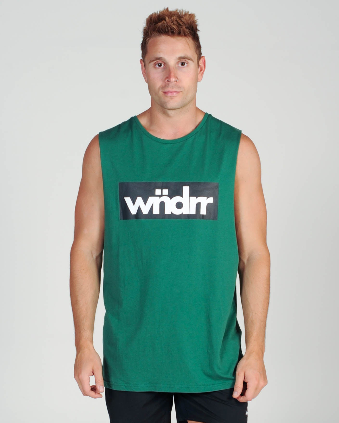 Wndrr Tone Muscle Top - Forest Green