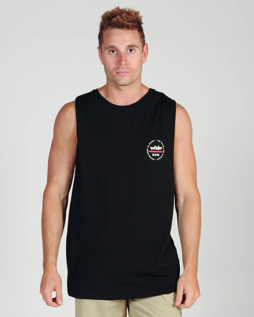 Wndrr Transit Muscle Top - Black