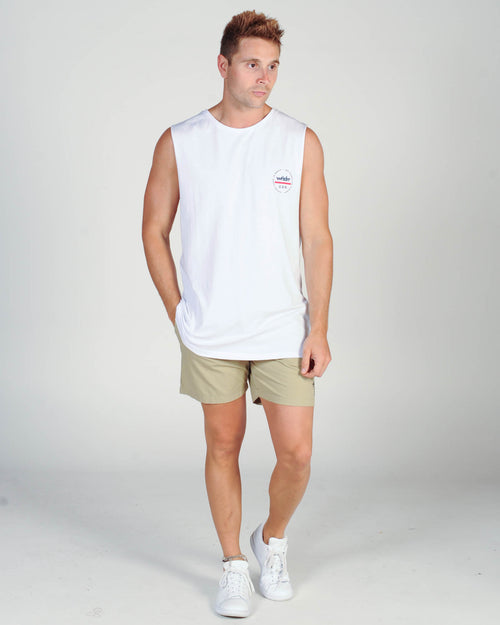 Wndrr Transit Muscle Top - White