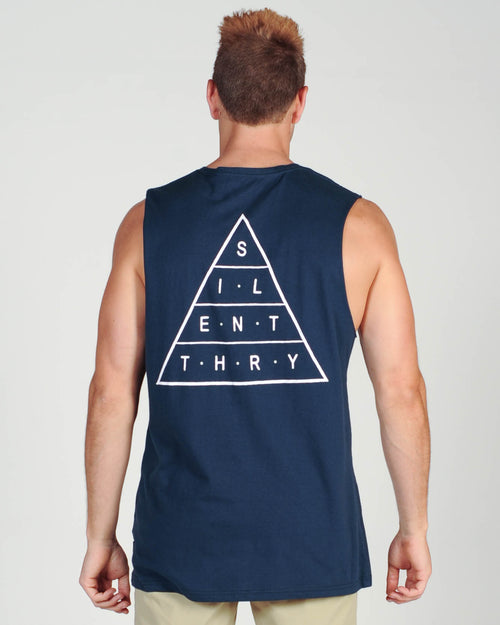 Silent Theory Top Of The Muscle - Navy