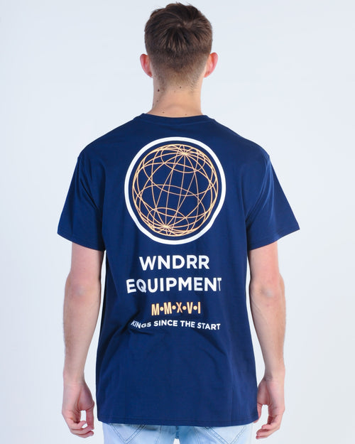 Wndrr Tidal Custom Fit Tee - Navy