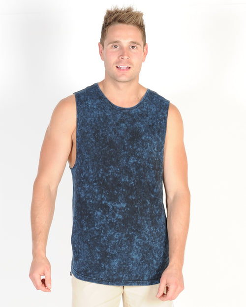 SILENT THEORY ACID TAIL MUSCLE TOP - NAVY FJORD