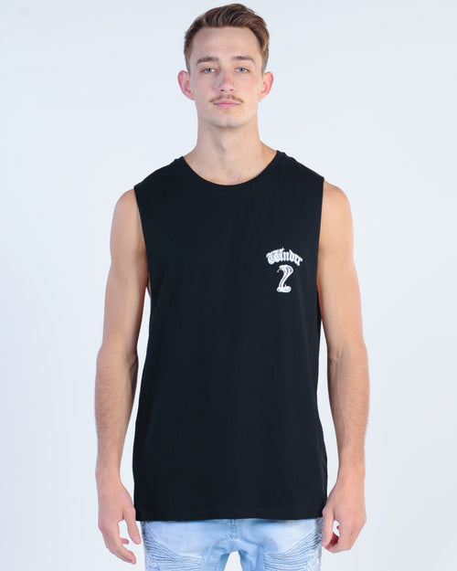 Wndrr Cobra Muscle Top - Black