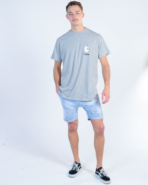 The Fifth Label Pixel Stripe Short - Sage/White