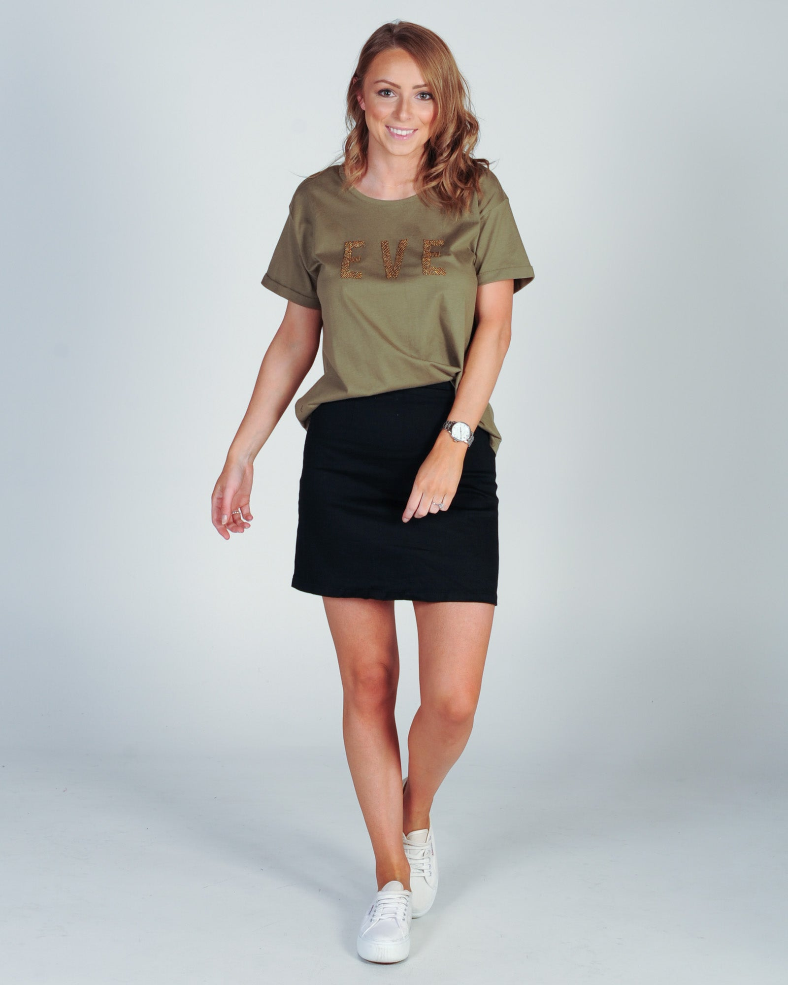 All About Eve Romy Tee - Khaki