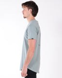 NENA & PASADENA SOCIETY MULTI LAYER TEE - BLACK AND GREY MARLE