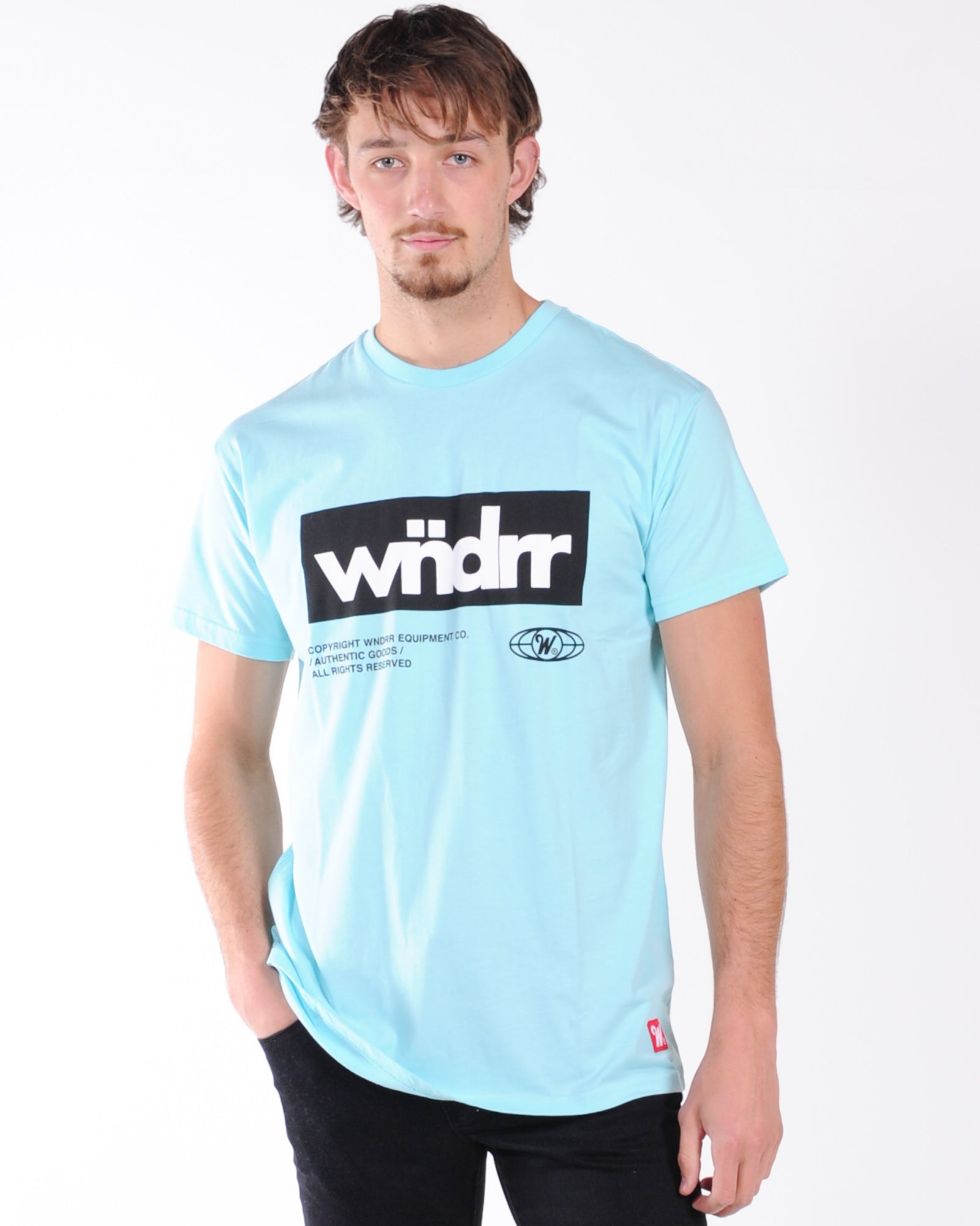 Wndrr Manifest Custom Fit Tee - Light Blue
