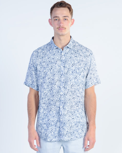 Industrie Acapulco S/S Shirt - Navy/White