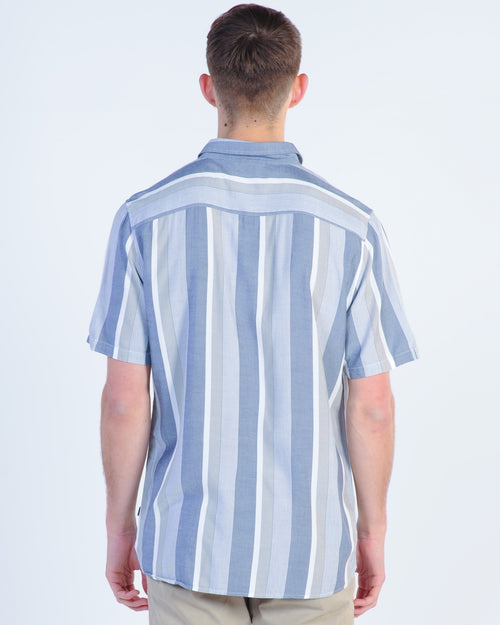 Barney Cools Holiday S/S Vert Shirt - Navy