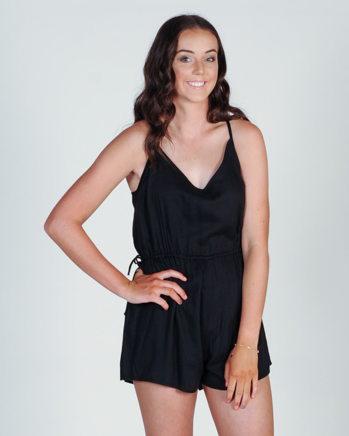 All About Eve Effie Playsuit - Black