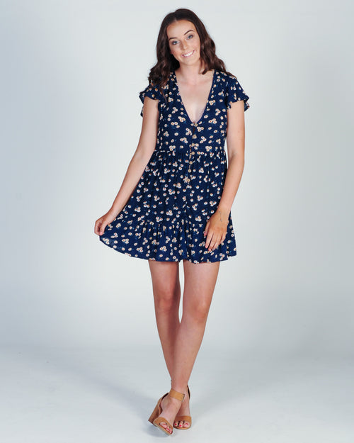 Something Blue Dress - Navy Floral
