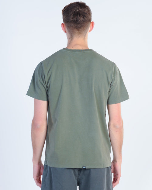 Thrills Drill Emb Tee - Army Green