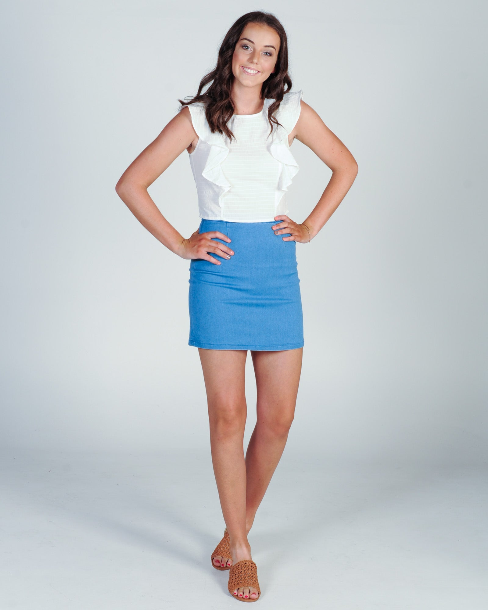 When She Smiles Skirt - Blue