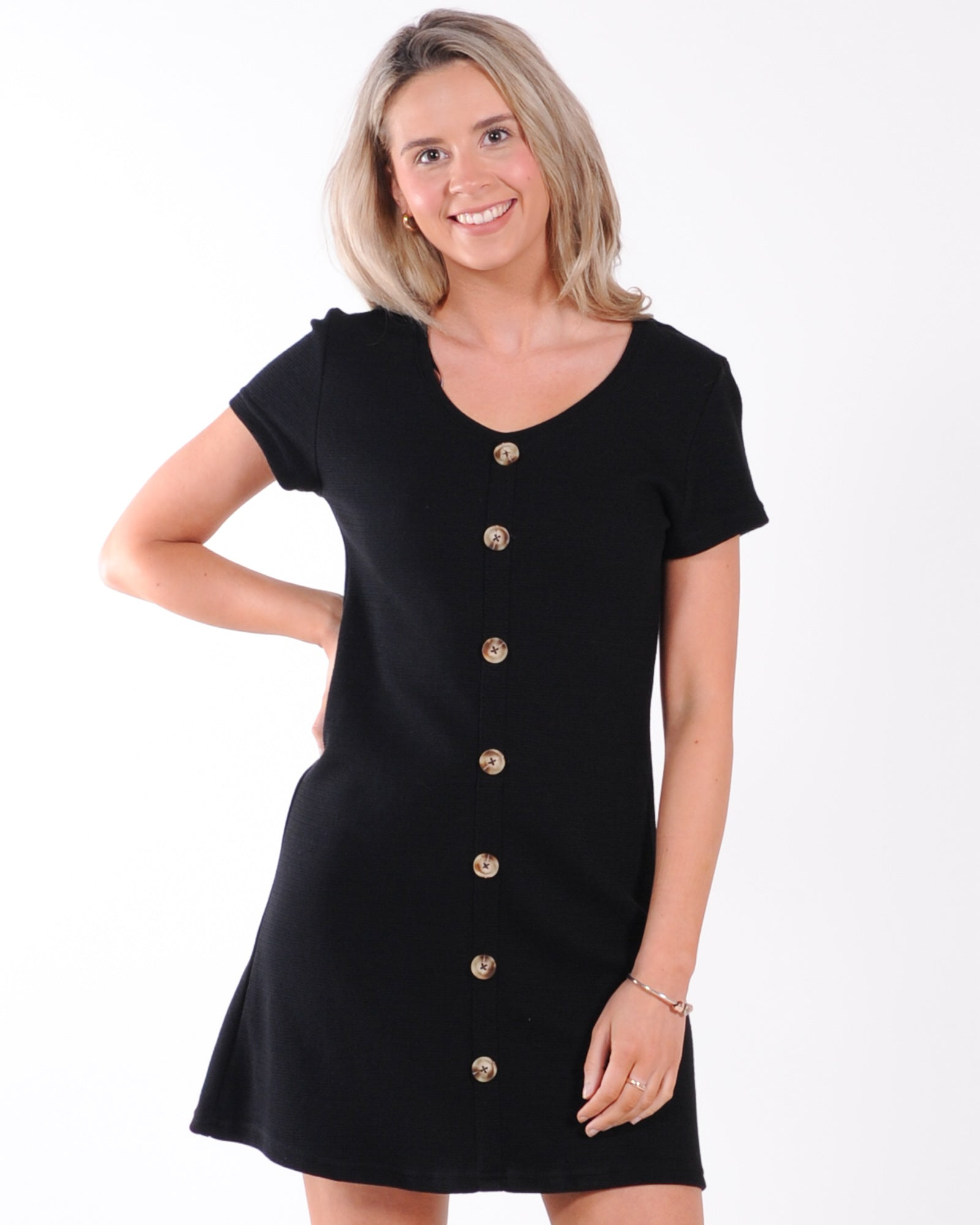 All About Eve Old School Dress - Black