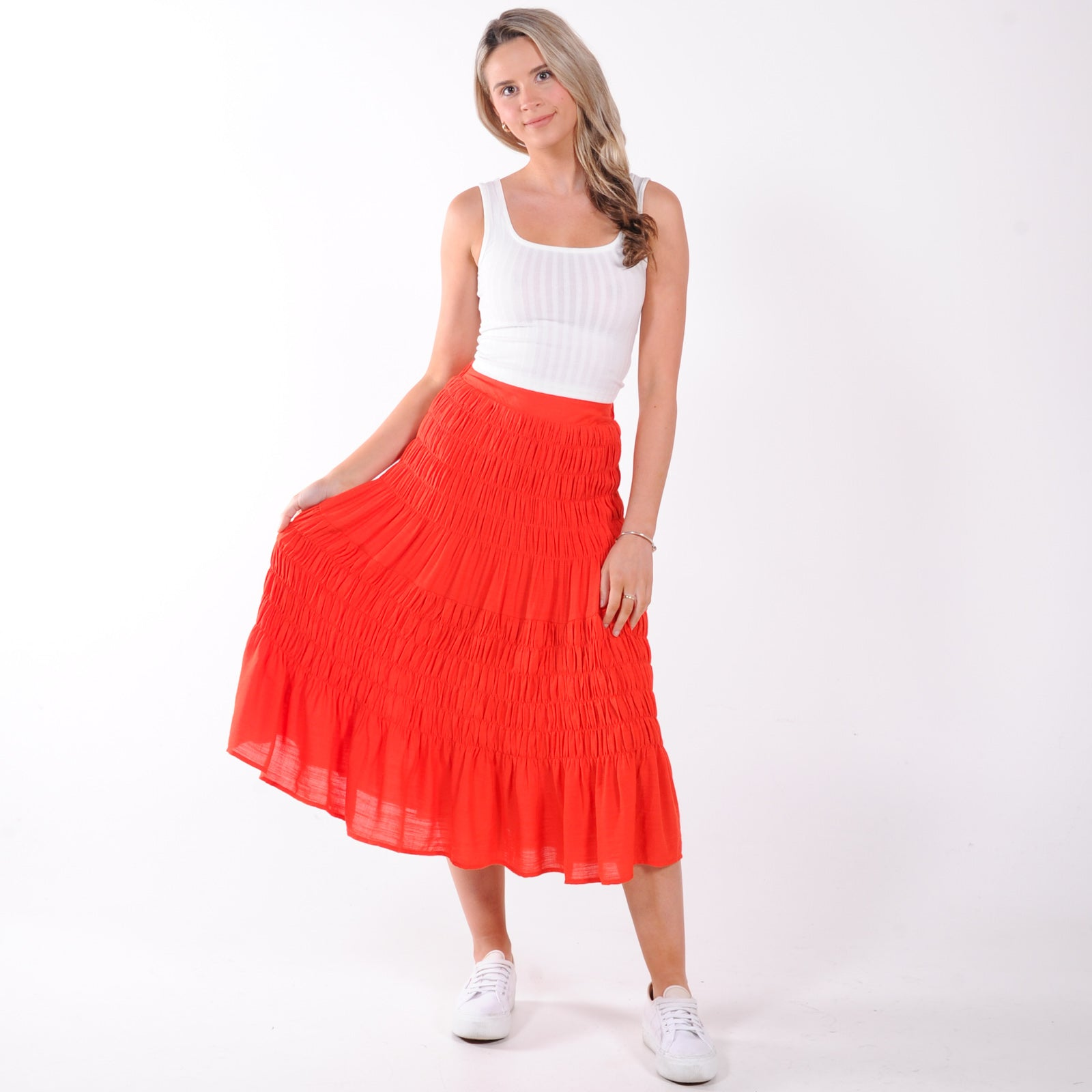 Summer Feeling Midi Skirt - Rust