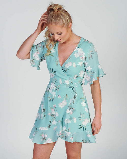Palm Springs Wrap Dress - Mint