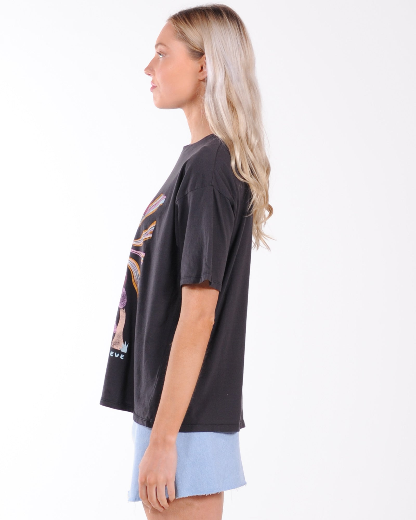 All About Eve Field Of Dreams Tee - Faded Black