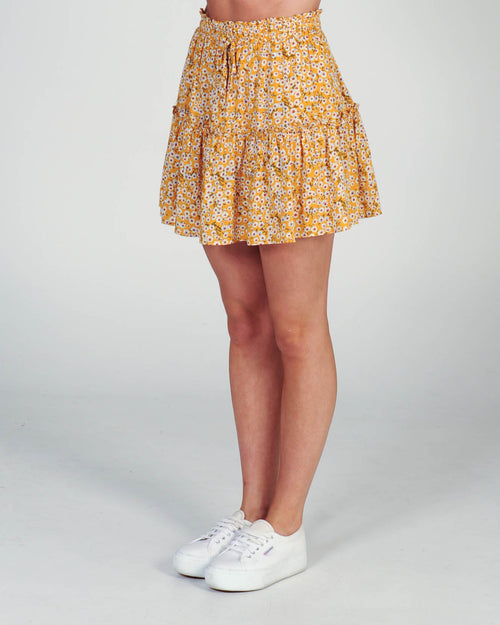 Delilah Skirt - Yellow Floral