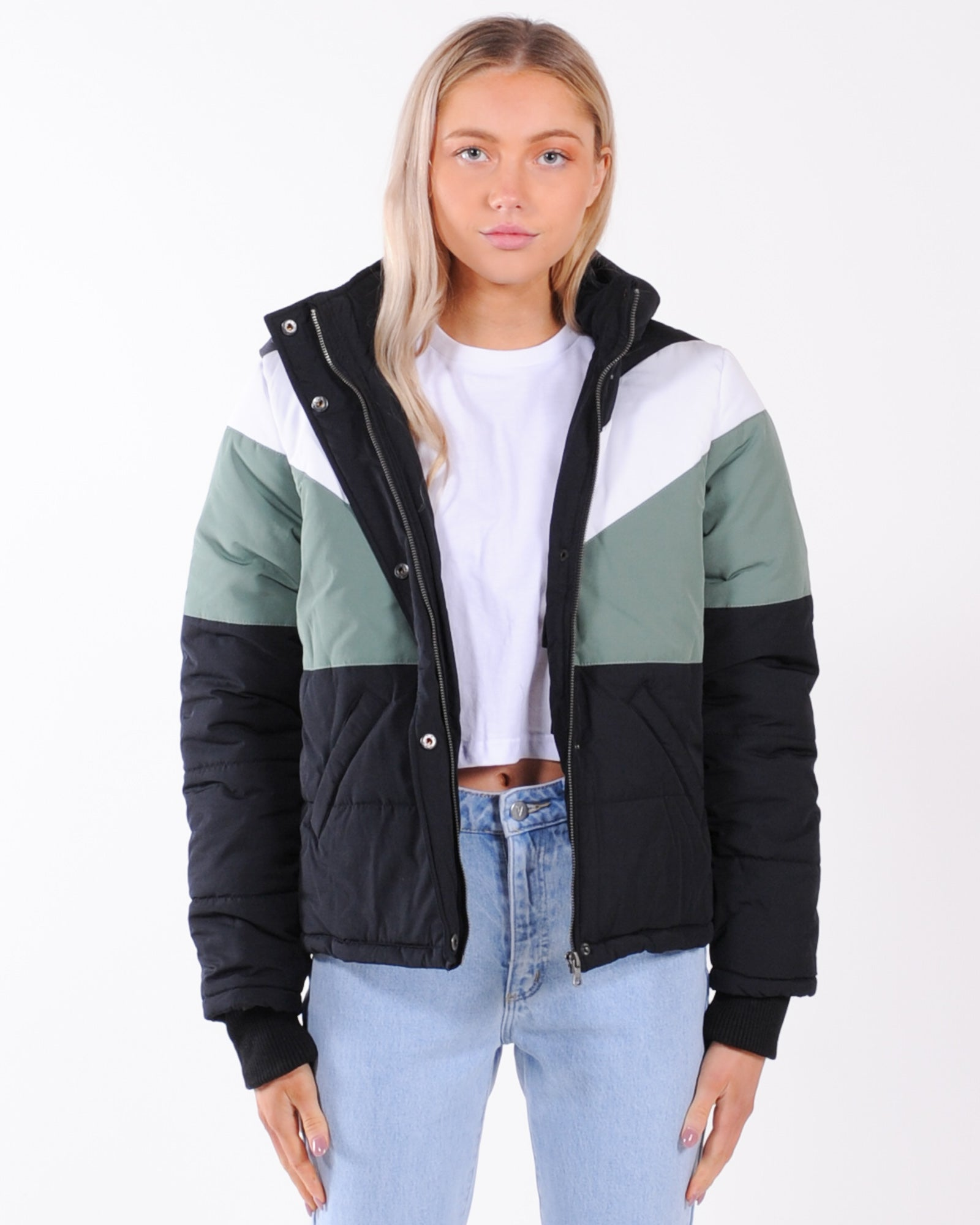 All About Eve Phoenix Panel Puffer Jacket - Black
