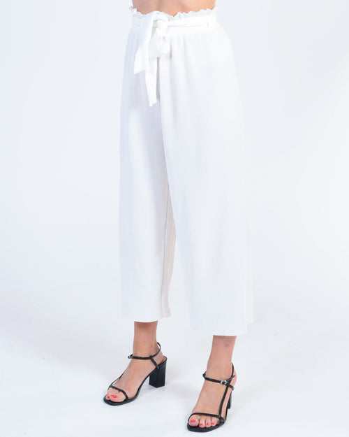 Promise Made Pleated Pant - White