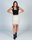 GAME CHECKER DENIM SKIRT - DARK DENIM