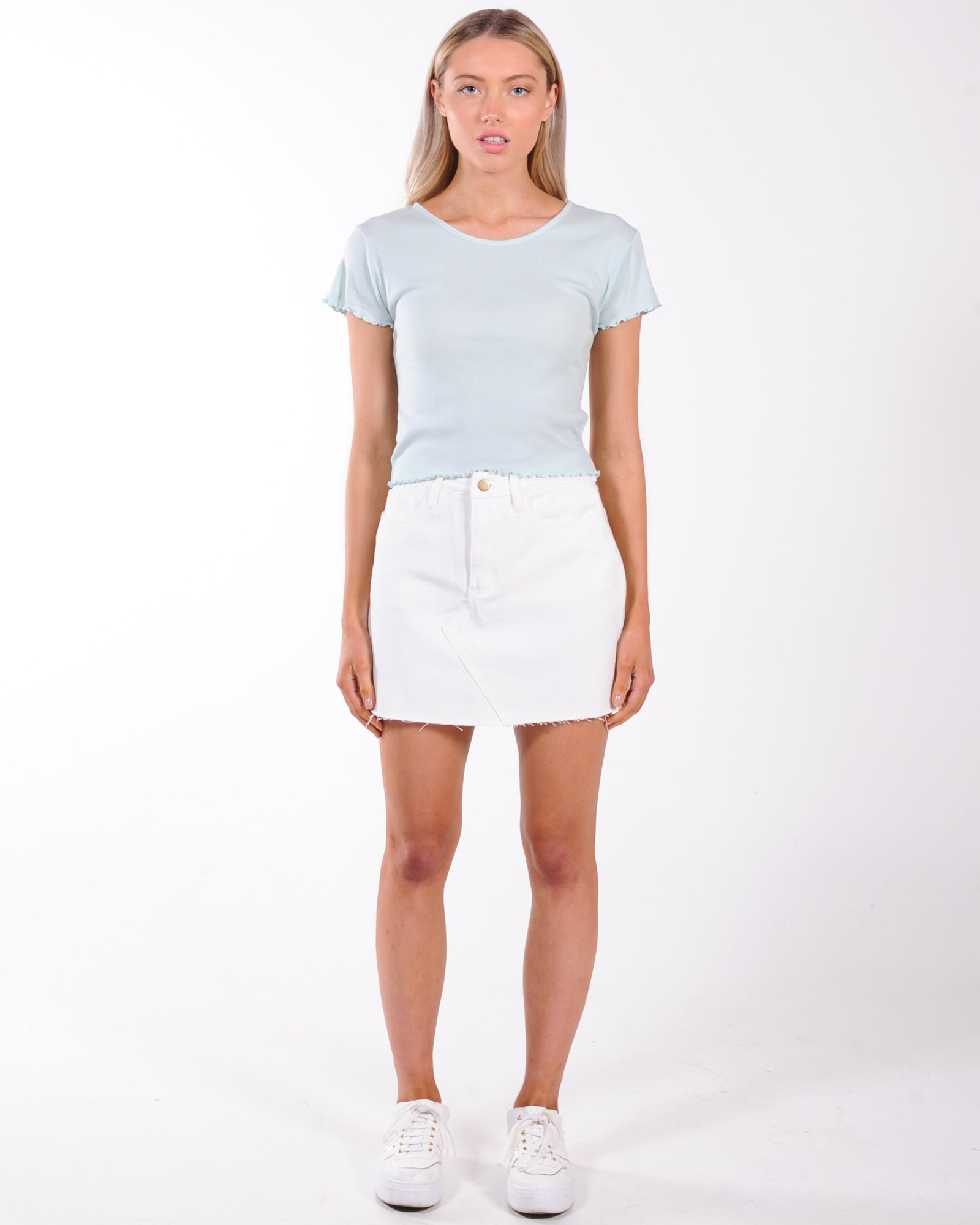 All About Eve Take You Away Tee - Light Blue