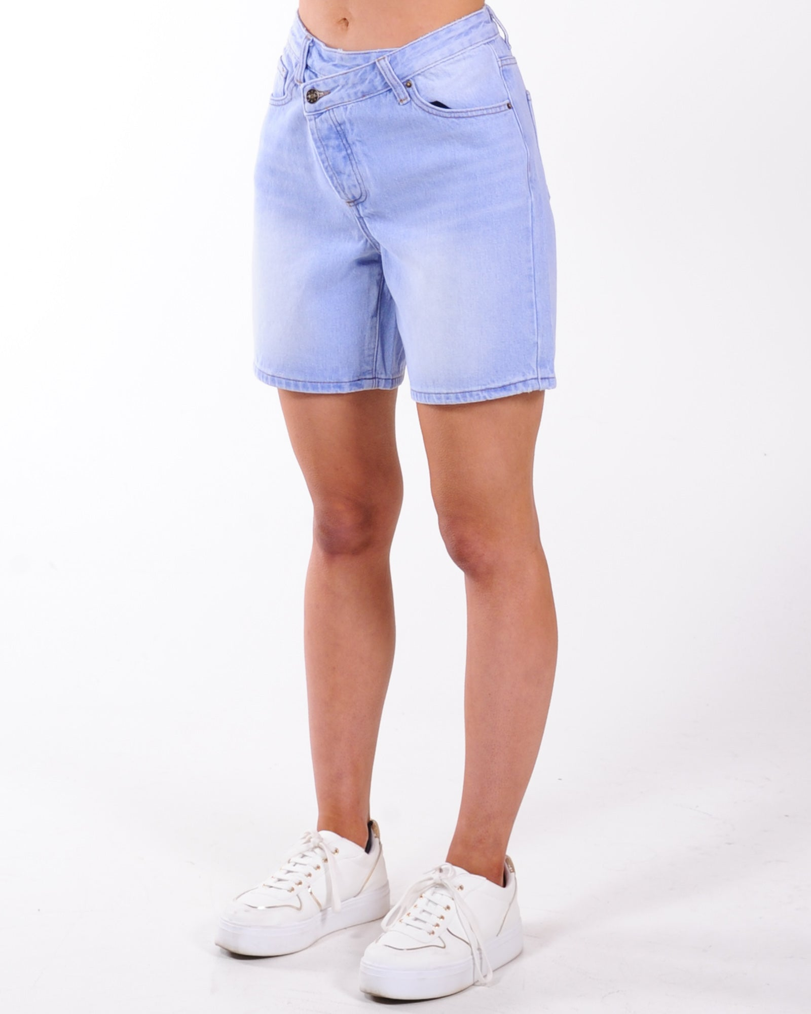 Lioness Low Rider Denim Short - Blue Denim