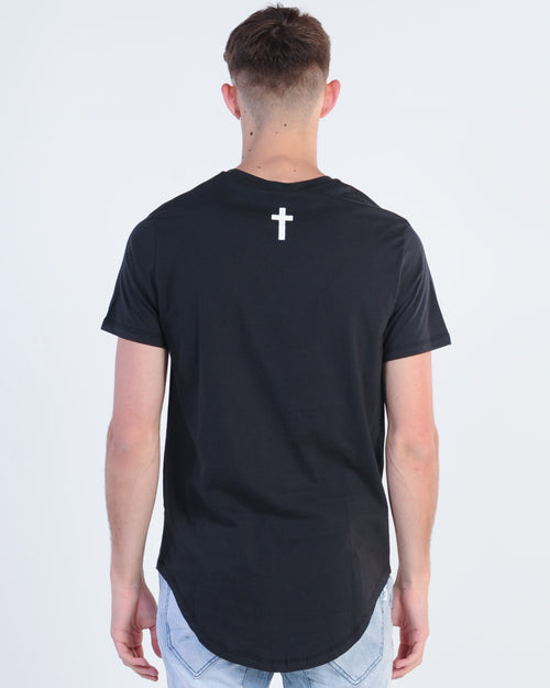 Kiss Chacey Divided Tee - Jet Black