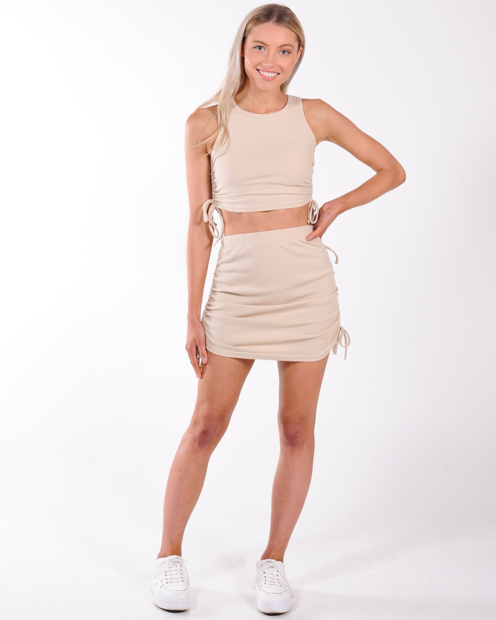 Video Star Skirt - Tan