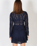 RUMOUR HAS IT DRESS - NAVY