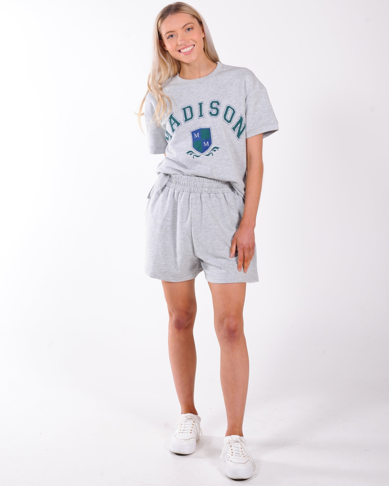 Madison The Label College Sweater - Grey