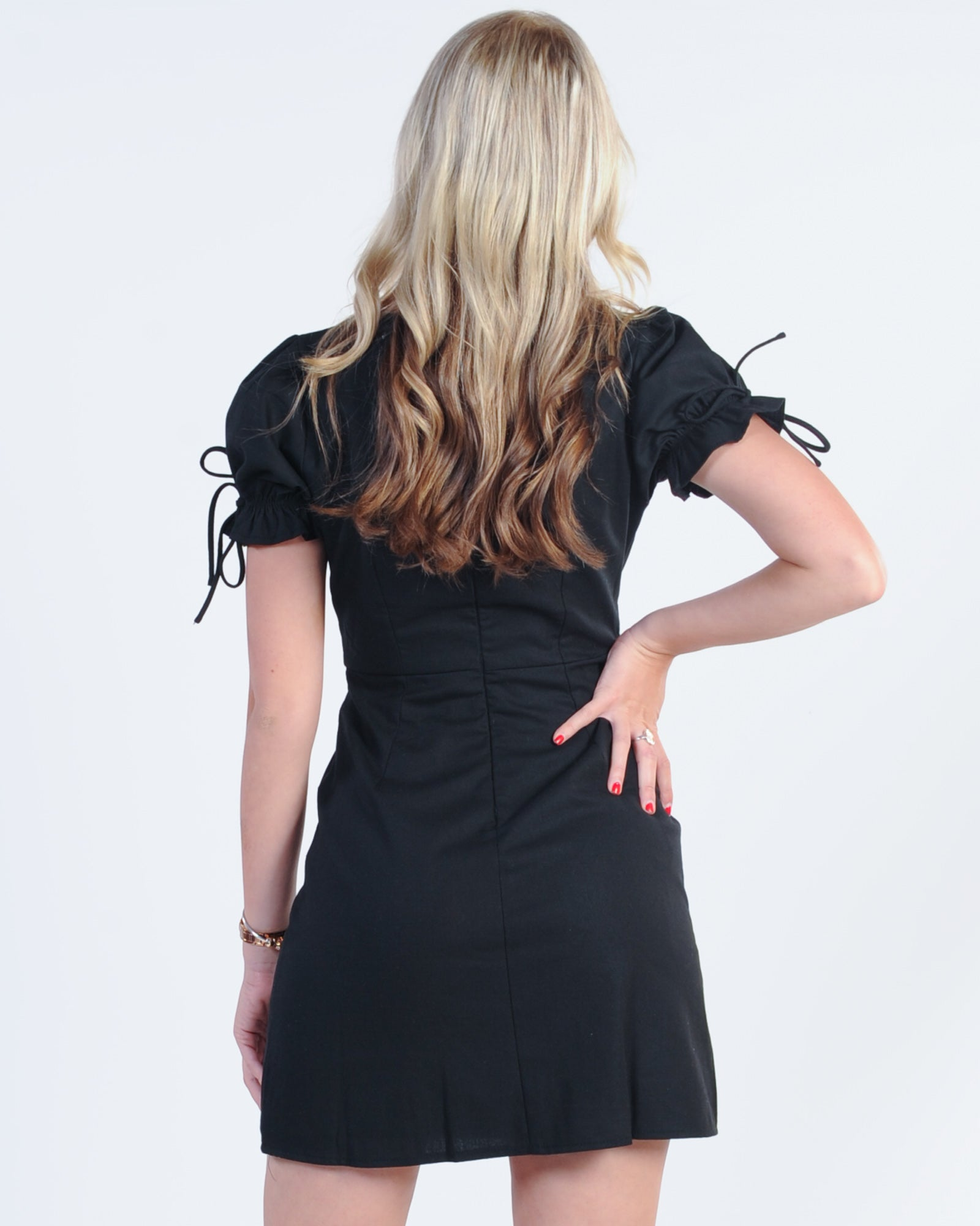 FIRST LOVE FRILL DRESS - BLACK