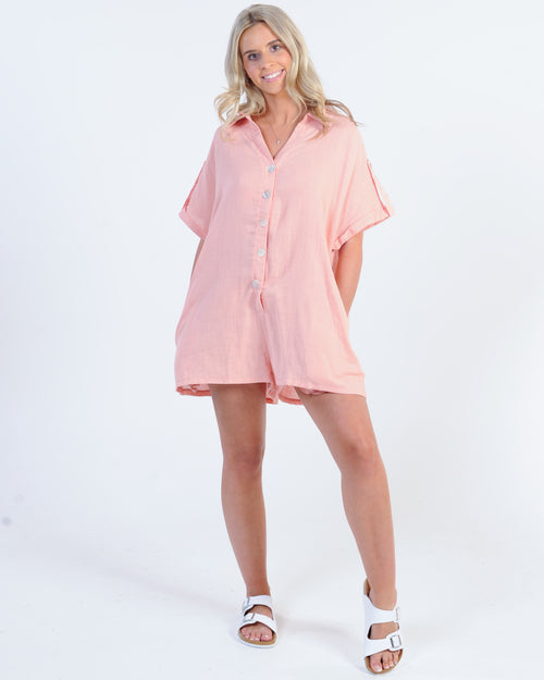 Holiday Mode Playsuit - Pink