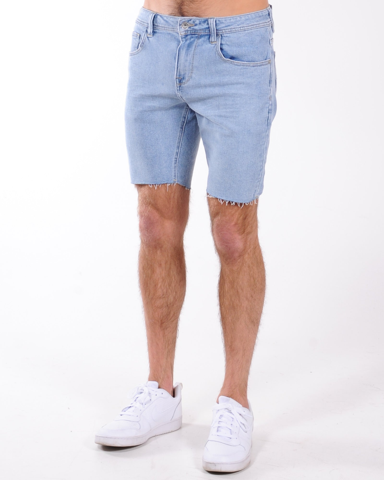 Silent Theory Shadow Raw Denim Short - Light Blue