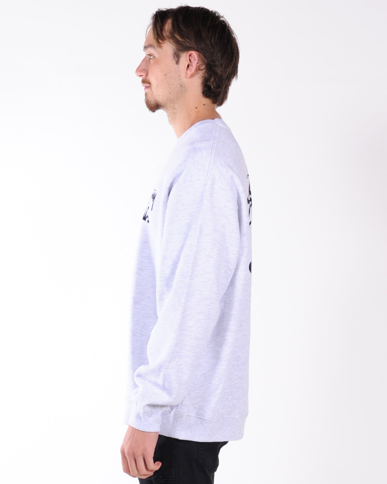Stussy Stock Crown Crew Sweat - Snow Marle