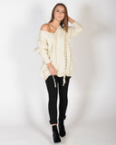 FAKER OVERSIZED KNIT - CREAM