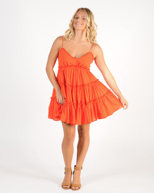 On The Edge Dress - Coral