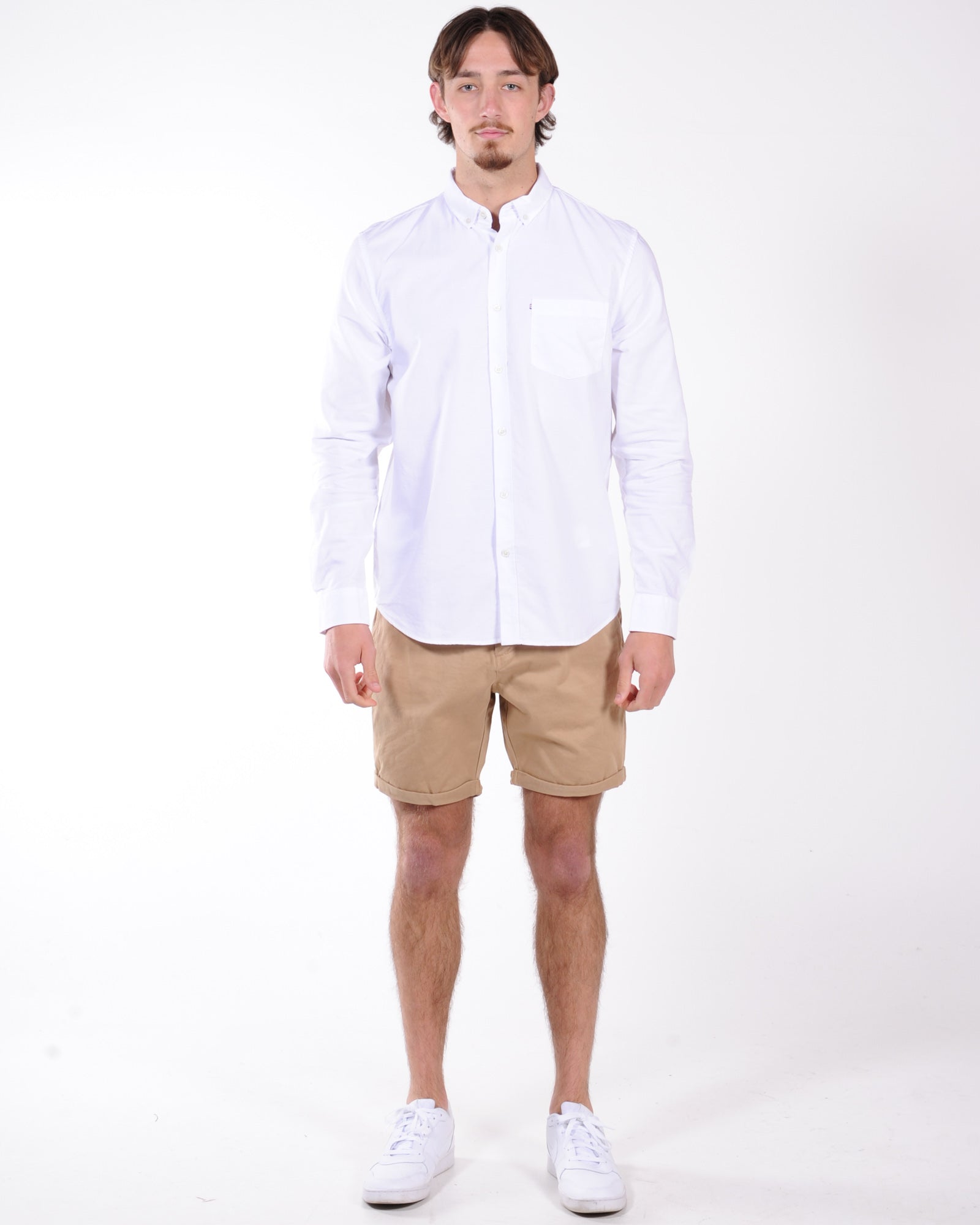 Academy Dillion L/S Shirt - White