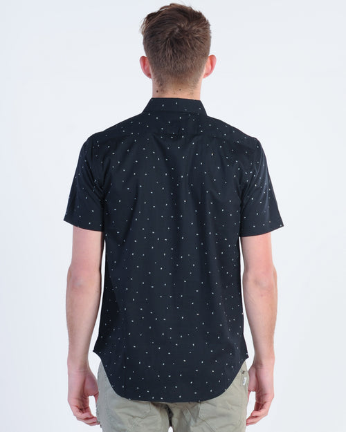 Rvca Va Little Buds S/S Print Shirt - Black