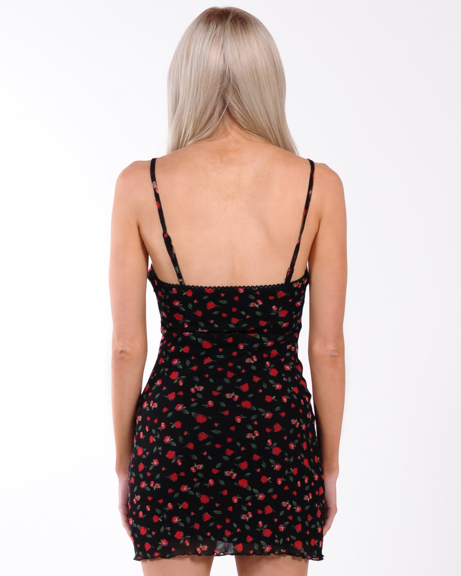 Heart Breaker Floral Dress - Red Floral