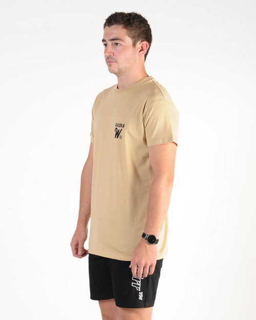 Wndrr Cut Across Custom Fit Tee - Tan