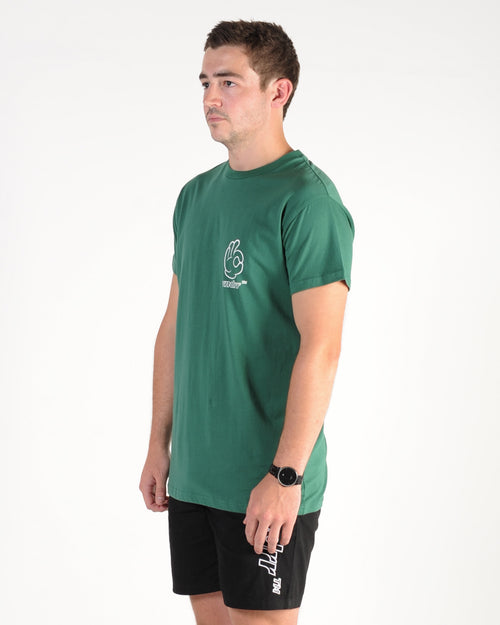 Wndrr Cool Custom Fit Tee - Forest Green