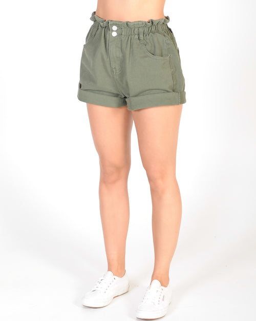 RAINBOW LAND OVERDYE SHORT - KHAKI